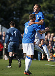 Kal Naismith celebrates his goal with Lee McCulloch