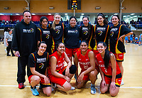The Waikato women's team after the National Under-23 Basketball Championships Tournament women's semifinal between Waikato and Waikato Country at Te Rauparaha Arena in Porirua, New Zealand on Friday, 10 August 2018. Photo: Dave Lintott / lintottphoto.co.nz