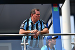 11.08.2019, Carl-Benz-Stadion, Mannheim, GER, DFB Pokal, 1. Runde, SV Waldhof Mannheim vs. Eintracht Frankfurt, <br /> <br /> DFL REGULATIONS PROHIBIT ANY USE OF PHOTOGRAPHS AS IMAGE SEQUENCES AND/OR QUASI-VIDEO.<br /> <br /> im Bild: Bernd Beetz (Investor, SV Waldhof Mannheim)<br /> <br /> Foto © nordphoto / Fabisch