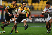 9th June 2017, Westpac Stadium, Wellington, New Zealand; Super Rugby; Hurricanes versus Chiefs;  Hurricanes' Nehe Milner-Skudder runs with the ball