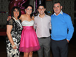 Twins Michael and Melissa Matthews celebrating their 21st birthday with parents Paul & Joyce in the Star & crescent. Photo: Colin Bell/pressphotos.ie