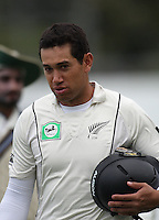 NZ's Ross Taylor during day four of the 3rd test between the New Zealand Black Caps and India at Allied Prime Basin Reserve, Wellington, New Zealand on Monday, 6 April 2009. Photo: Dave Lintott / lintottphoto.co.nz.