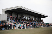 The main stand at Durham City AFC Football Ground, New Ferens Park, Belmont, Durham, County Durham, pictured on 7th April 1996