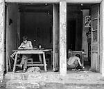 Repair workshop in Hoi An, Vietnam.