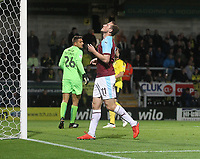 Burnley's Chris Wood regrets a miss<br /> <br /> Photographer Mick Walker/CameraSport<br /> <br /> The Carabao Cup Round Three   - Burton Albion  v Burnley - Tuesday  25 September 2018 - Pirelli Stadium - Buron On Trent<br /> <br /> World Copyright &copy; 2018 CameraSport. All rights reserved. 43 Linden Ave. Countesthorpe. Leicester. England. LE8 5PG - Tel: +44 (0) 116 277 4147 - admin@camerasport.com - www.camerasport.com