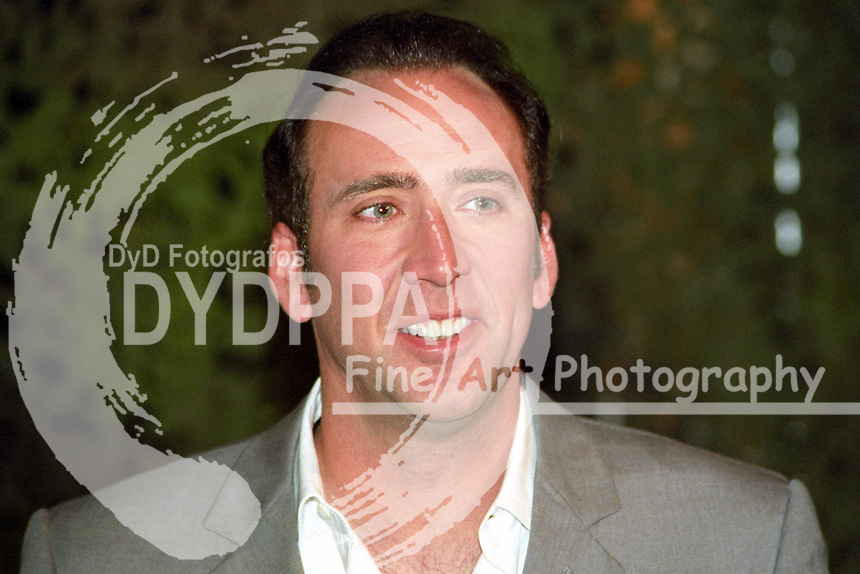 """Actor Nicolas Cage during the photocall for  """"Windtalkers"""" at Hotel Atlantic, Hamburg"""