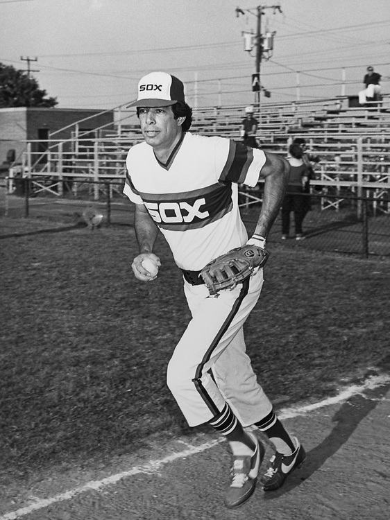 Rep. Marty Russo, D-Ill., playing baseball. (Photo by CQ Roll Call)