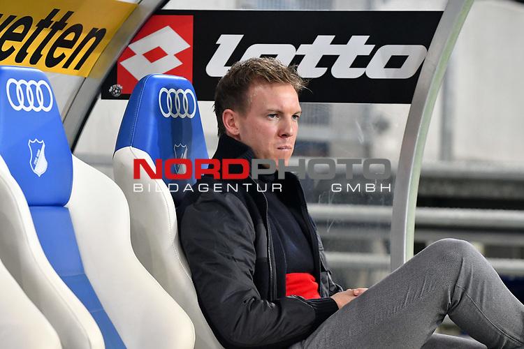 01.12.2018, wirsol Rhein-Neckar-Arena, Sinsheim, GER, 1 FBL, TSG 1899 Hoffenheim vs FC Schalke 04, <br /> <br /> DFL REGULATIONS PROHIBIT ANY USE OF PHOTOGRAPHS AS IMAGE SEQUENCES AND/OR QUASI-VIDEO.<br /> <br /> im Bild: Julian Nagelsmann (Trainer TSG Hoffenheim)<br /> <br /> Foto © nordphoto / Fabisch