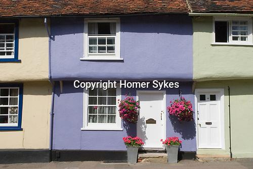 Saffron Walden Essex England 2009. Castle Street traditional colourful buildings.