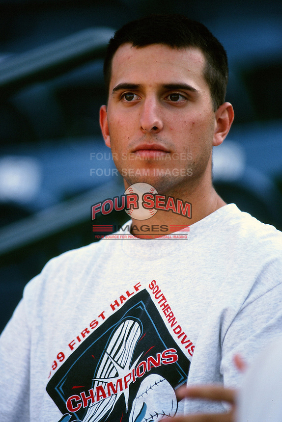 Mike Bynum of the Rancho Cucamonga Quakes during a California League baseball game at The Epicenter circa 1999 in Rancho Cucamonga,CA. (Larry Goren/Four Seam Images)