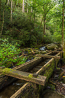 Water trough bring water to the Alfred Reagan tub mill along the Roaring Fork River in Great Smoky Mountains National Park.