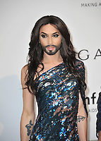Eurovision Song Contest winner Conchita Wurst  at the 21st annual amfAR Cinema Against AIDS Gala at the Hotel du Cap d'Antibes.<br /> May 22, 2014  Antibes, France<br /> Picture: Paul Smith / Featureflash