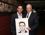 Santino Fontana and Max Klimavicius during the Santino Fontana portrait unveiling at Sardi's on May 21, 2019 in New York City.