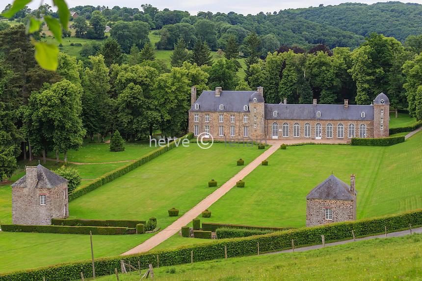 France, Calvados (14), Pontécoulant, château de Pontécoulant // France, Calvados, Pontecoulant, castle of Pontecoulant