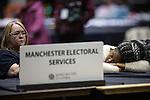 © Joel Goodman - 07973 332324 . 24/06/2016 . Manchester , UK . Ballot counters at the EU referendum at Manchester Central Convention Centre . Photo credit : Joel Goodman