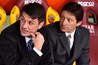 AC Milan managers and former players Paolo Maldini and Leonardo ahead the Serie A 2018/2019 football match between AS Roma and AC Milan at stadio Olimpico, Roma, February 3, 2019 <br />  Foto Andrea Staccioli / Insidefoto