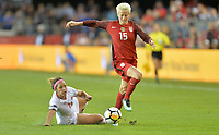 San Jose, CA - Sunday November 12, 2017: Megan Rapinoe during an International friendly match between the Women's National teams of the United States (USA) and Canada (CAN) at Avaya Stadium.