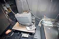 Computer severely damaged in school fire UK..©shoutpictures.com..john@shoutpictures.com