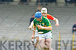 Willie O'Dwyer Kerry and Jack Kavanagh Carlow in action Allianz Hurling league clash in Fitzgerald Stadium on Sunday