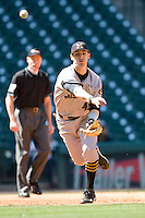 Missouri TIger Aaron Santo against the TCU Horned Frogs on Friday March 5th, 2100 at the Astros College Classic in Houston's Minute Maid Park.  (Photo by Andrew Woolley / Four Seam Images)