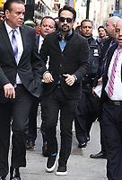 NEW YORK, NY - MAY 7: Lin-Manuel Miranda seen at Good Morning America in New York City on May 7, 2018. Credit: RW/MediaPunch