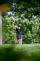 Jodi Ewart Shadoff (ENG) watches her tee shot on 16 during Saturday's round 3 of the 2017 KPMG Women's PGA Championship, at Olympia Fields Country Club, Olympia Fields, Illinois. 7/1/2017.<br /> Picture: Golffile | Ken Murray<br /> <br /> <br /> All photo usage must carry mandatory copyright credit (&copy; Golffile | Ken Murray)