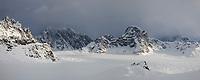 Mount danbeard and the ruth glacier, Alaska Range mountains, Interior, Alaska.