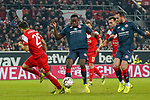 30.11.2018, Merkur Spielarena, Duesseldorf , GER, 1. FBL,  Fortuna Duesseldorf vs. 1.FSV Mainz 05,<br />  <br /> DFL regulations prohibit any use of photographs as image sequences and/or quasi-video<br /> <br /> im Bild / picture shows: <br /> Matthias Zimmermann (Fortuna Duesseldorf #25), im Zweikampf gegen  Jean-Philippe Mateta(Mainz 05 #9), <br /> Foto © nordphoto / Meuter