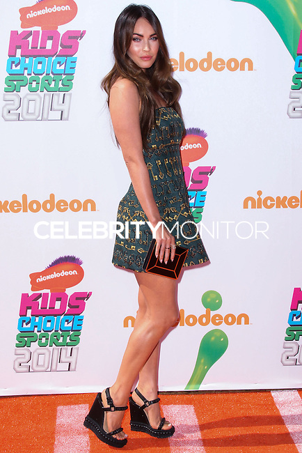 WESTWOOD, LOS ANGELES, CA, USA - JULY 17: Actress Megan Fox arrives at the Nickelodeon Kids' Choice Sports Awards 2014 held at UCLA's Pauley Pavilion on July 17, 2014 in Westwood, Los Angeles, California, United States. (Photo by Xavier Collin/Celebrity Monitor)