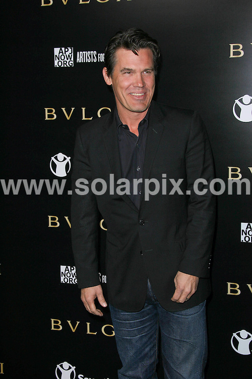 **ALL ROUND PICTURES FROM SOLARPIX.COM**                                             **SYNDICATION RIGHTS FOR UK, AUSTRALIA, DENMARK, PORTUGAL, S. AFRICA, SPAIN & DUBAI (U.A.E) & ASIA (EXCLUDING JAPAN) ONLY**                                                                                  Caption:  Arrivals at the Bvlgari Private Event honouring Simon Fuller and Paul Haggis to Benefit Save the Children and Artists for Peace and Justice, held at the Ron Burkle Residence, Beverly Hills, USA. 13 January 2011                                                                    This pic: Josh Brolin                                                   JOB REF: 12666 PHZ Charlotte      DATE: 13_01_2011                                                           **MUST CREDIT SOLARPIX.COM OR DOUBLE FEE WILL BE CHARGED**                                                                      **MUST AGREE FEE BEFORE ONLINE USAGE**                               **CALL US ON: +34 952 811 768 or LOW RATE FROM UK 0844 617 7637**