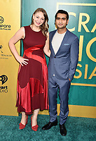 HOLLYWOOD, CA - AUGUST 07: Emily V. Gordon (L) and Kumail Nanjiani arrive at the Warner Bros. Pictures' 'Crazy Rich Asians' premiere at the TCL Chinese Theatre IMAX on August 7, 2018 in Hollywood, California.<br /> CAP/ROT/TM<br /> &copy;TM/ROT/Capital Pictures