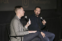"""New York - JANUARY 8: Mark Paul Gosselaar and moderator Danny Feekes attend an advanced screening and Q&A of FOX's """"The Passage"""" at the AMC Lincoln Square 13 on January 8, 2019, in New York City. (Photo by Ben Hider/Fox/PictureGroup)"""