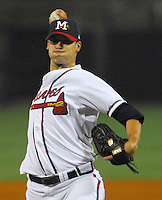 Pitcher Charlie Morton of the Mississippi Braves, the Atlanta Braves' Class AA affiliate of the Southern League, in a game April 23, 2007, against the Birmingham Barons at Trustmark Park in Pearl, Miss. Photo by:  Tom Priddy/Four Seam Images
