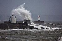 2018 10 12 Storm Callum affects Porthcawl, Wales, UK