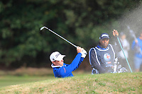 Julien Guerrier (FRA) on the 2nd during Round 3 of the Sky Sports British Masters at Walton Heath Golf Club in Tadworth, Surrey, England on Saturday 13th Oct 2018.<br /> Picture:  Thos Caffrey | Golffile
