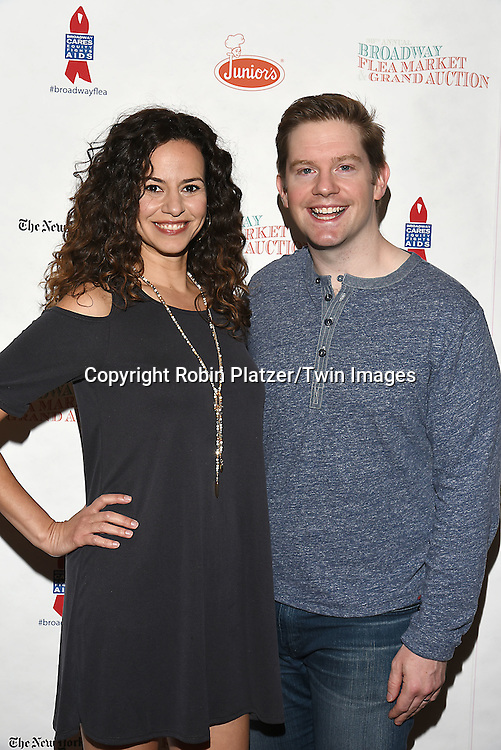 Mandy Gonzalez and Rory O'Malley attends the Broadway Cares/Equity Fights Aids Flea Market and Grand Auction on September 25, 2016 at the Music Box Theatre and in Shubert Ally in New York, New York, USA. <br /> <br /> photo by Robin Platzer/Twin Images<br />  <br /> phone number 212-935-0770