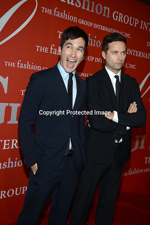Jack McCollough and Lazaro Hernandez attends the Fashion Group International's Night of Stars Gala on October 22, 2013 at Cipriani Wall Street in New York City.