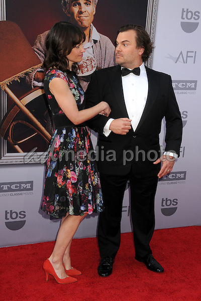 4 June 2015 - Hollywood, California - Tanya Haden, Jack Black. AFI 43rd Life Achievement Award Gala Tribute To Steve Martin held at the Dolby Theatre. Photo Credit: Byron Purvis/AdMedia