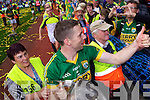 Marc O'Se celebrates with fans after defeating Donegal in the GAA All Ireland Senior Football Championship final.