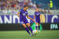 Orlando, Florida - Sunday, May 14, 2016: Orlando Pride midfielder Kristen Edmonds (12) during a National Women's Soccer League match between Orlando Pride and New York Flash at Camping World Stadium.
