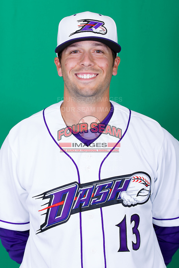 Winston-Salem Dash pitcher Jarrett Casey (13) poses for photos during Media Day at BB&T Ballpark on April 1, 2014 in Winston-Salem, North Carolina (Brian Westerholt/Four Seam Images)