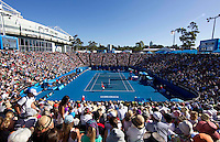 Ambience shot over Margaret Court Arena..19/01/2012, 19th January 2012, 19.01.2012..The Australian Open, Melbourne Park, Melbourne,Victoria, Australia.@AMN IMAGES, Frey, Advantage Media Network, 30, Cleveland Street, London, W1T 4JD .Tel - +44 208 947 0100..email - mfrey@advantagemedianet.com..www.amnimages.photoshelter.com.