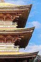 Sanju Pagoda, Kyoto Gardens of Honolulu Memorial Park, Honolulu, O'ahu.