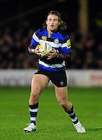 Max Clark of Bath Rugby in possession. Aviva Premiership match, between Bath Rugby and Bristol Rugby on November 18, 2016 at the Recreation Ground in Bath, England. Photo by: Patrick Khachfe / Onside Images