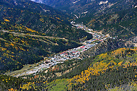 aerial of Red River, NM