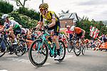 The peloton climb Mur de Huy on the first ascent during the 2019 La Fleche Wallonne, Belgium, 24 April 2019.<br /> Photo by Thomas van Bracht / PelotonPhotos.com / Cyclefile
