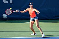 Washington, DC - August 3, 2019: Maria Sanchez (USA) retunes serve during the WTA Woman's Doubles Championship at Rock Creek Tennis Center, in Washington D.C. (Photo by Philip Peters/Media Images International)