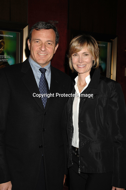 "Robert Iger and wife Willow Bay..arriving at The ""Deja Vu"" World Movie premiere on November 20, 2006 at The Ziegfeld Theatre. ..Robin Platzer, Twin Images"