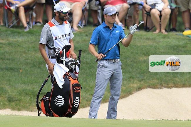 Jordan Spieth (USA) at the 7th green during Sunday's Final Round of the 2015 Bridgestone Invitational World Golf Championship held at the Firestone Country Club, Akron, Ohio, United States of America. 9/08/2015.<br /> Picture Eoin Clarke, www.golffile.ie