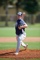 Spencer Bauer during the WWBA World Championship at the Roger Dean Complex on October 18, 2018 in Jupiter, Florida.  Spencer Bauer is a right handed pitcher from Manasquan, New Jersey who attends Manasquan High School and is committed to Elon.  (Mike Janes/Four Seam Images)